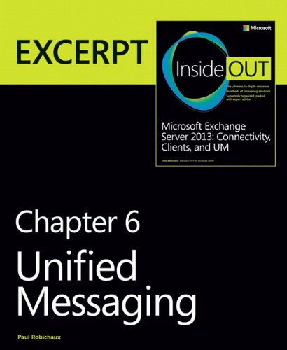9780735680920: Unified Messaging: EXCERPT from Microsoft Exchange Server 2013 Inside Out