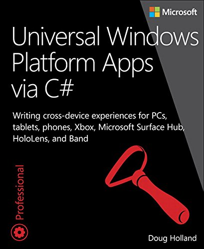 9780735684126: Universal Windows Platform Apps via C#: Writing cross-device experiences for PCs, tablets, phones, Xbox, Microsoft Surface Hub, HoloLens, and Band (Developer Reference)