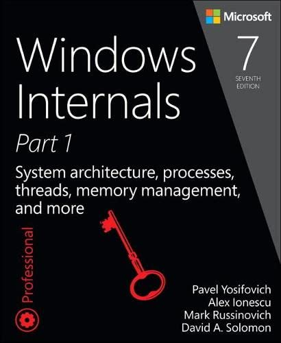 9780735684188: Windows Internals, Book 1: User Mode