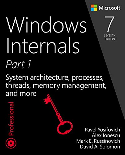 9780735684188: Windows Internals, Part 1: System architecture, processes, threads, memory management, and more (7th Edition)