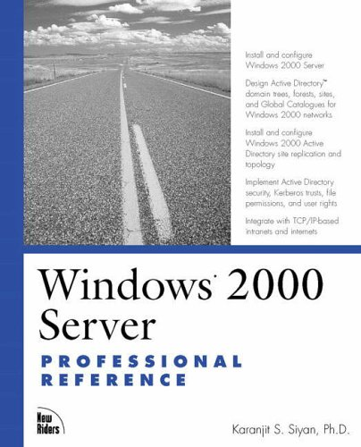 9780735709522: Windows 2000 Server Professional Reference