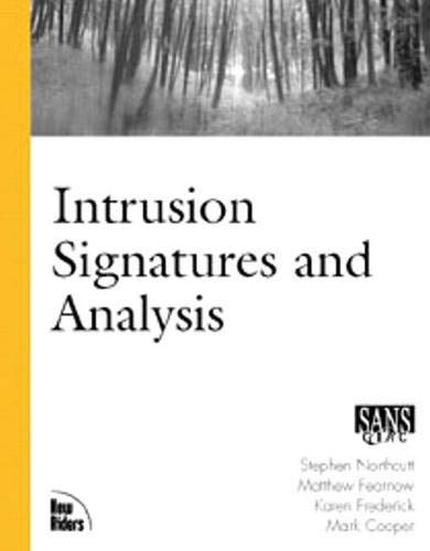 Intrusion Signatures and Analysis: Matt Fearnow; Karen