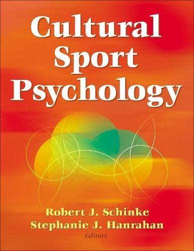 9780736071338: Cultural Sport Psychology