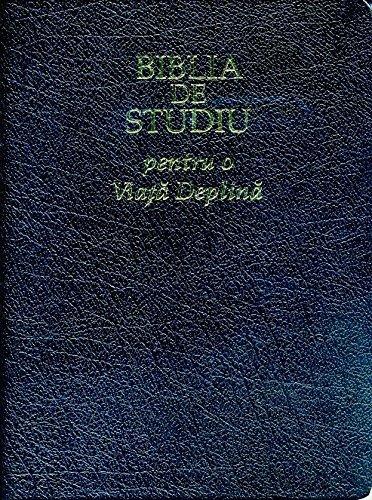 9780736103985: The Full Life Study Bible in Romanian Language Edition / Biblia De Studiu pentru o Viata Deplina - Versiunea D. Cornilescu / Duo Tone Gray and Black - Golden Edges with Thumb index / Concoradnce, Color Maps