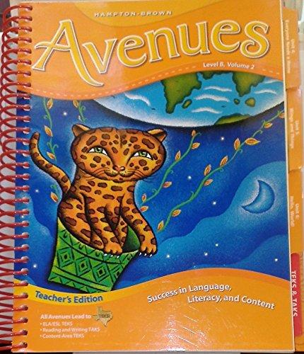 9780736218320: Hampton Brown Avenues Level B, Volume 2 - Teacher's Edition
