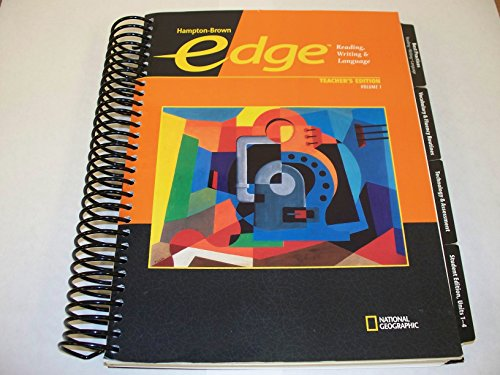 9780736234924: Edge: Reading, Writing, Language Level A, Vol. 1, Teacher's Edition
