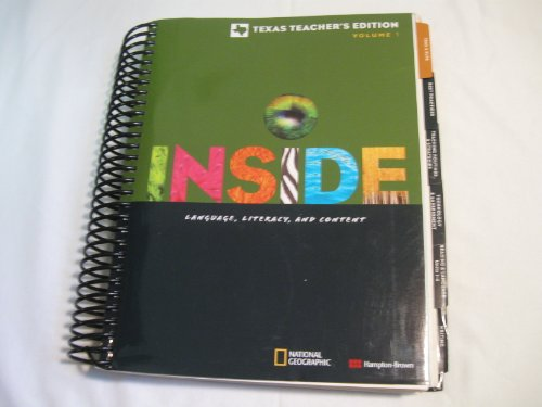 9780736279482: Inside Language, Literacy, and Content Texas Teacher's Edition Level D Volume 1 (Hardcover Spiral 2011)