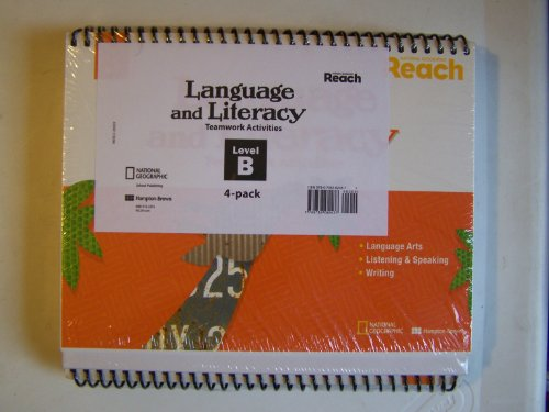 National Geographic Reach Language and Literacy Teamwork Activities ~ Level B (4 Pack): ...