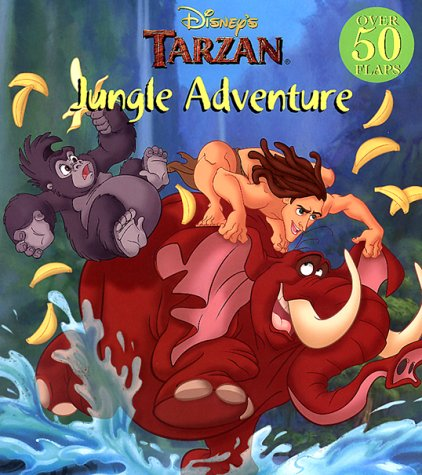Disney's Tarzan Jungle Adventure; Giant Lift-the-Flap book,: Onish, Liane, Alvin, Andrea & ...