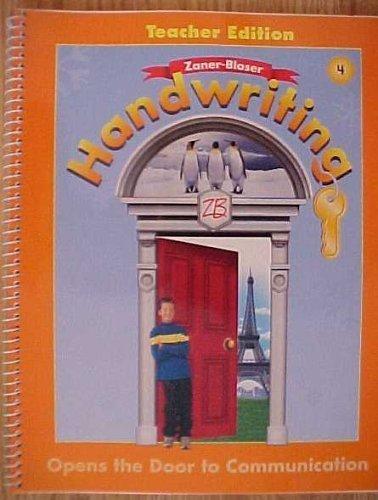 9780736712224: Zaner-Bloser Handwriting Grade 4 Opens the Door to Communication