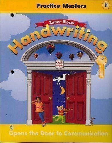 9780736712255: Handwriting Practice Masters Level K (ZANER-BLOSER, LEVEL K)