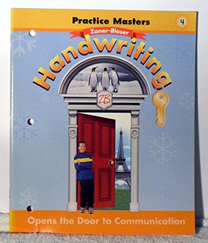 Handwriting Practice Masters 4 (OPEN THE DOOR TO COMMUNICATION LEV 4): BLOSER, ZANER