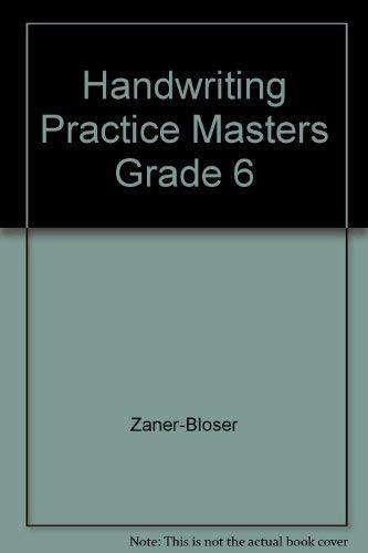 9780736712323: Handwriting Practice Masters Grade 6