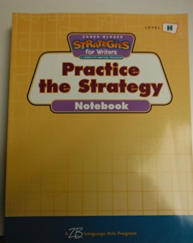 Strategies for Writers: Grade 8, Level H: Leslie W Crawford;