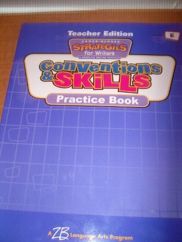 9780736712590: Conventions and Skills Practice Book (Strategies for Writers, Level E)
