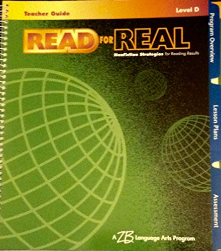 9780736723602: Read for Real - Level D - Nonfiction Strategies for Reading Results - Teacher Guide - 4th Grade - WITH CD (Nonfiction Strategies for Reading Results)