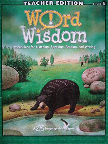 9780736724555: Word Wisdom, Teacher Edition Level E