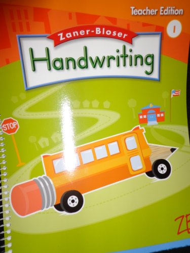 9780736751513: Zaner-Bloser Handwriting Teachers Edition, Grade 1