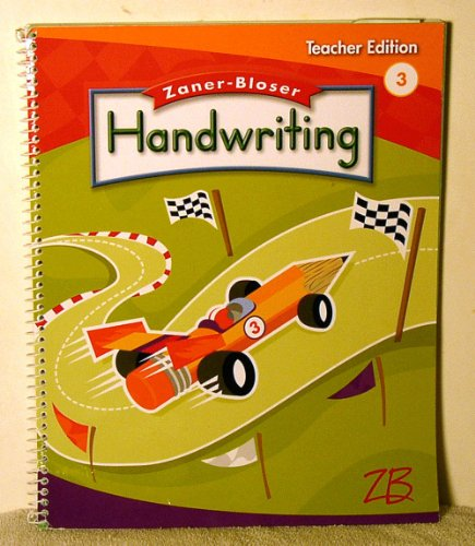 9780736751544: zaner Bloser Handwriting 3 Teacher edition