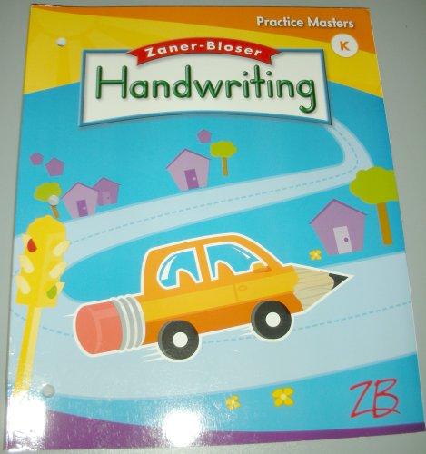 9780736751582: Handwriting Practice Masters Grade K