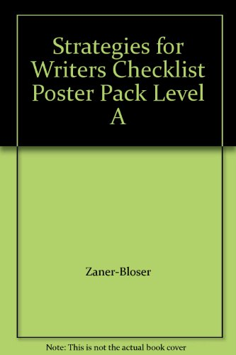 9780736754675: Strategies for Writers Checklist Poster Pack Level A