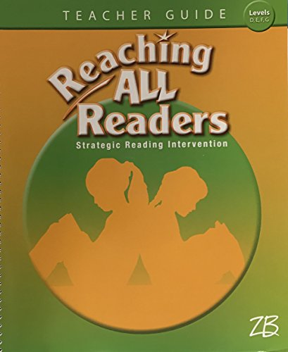9780736767521: Zaner Bloser Reaching All Readers Strategic Intervention Levels D E F G Teacher Guide with Teaching Resources CD-ROM