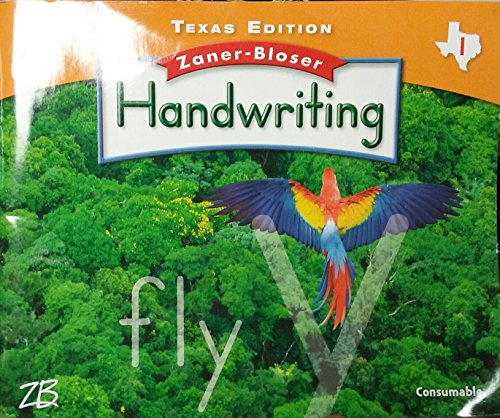 9780736768436: Zaner-Bloser Handwriting Texas Edition Grade 1