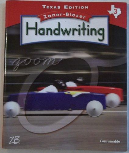 9780736768467: Zaner Bloser Handwriting grade 3 TX edition