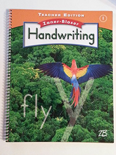 9780736768481: Zaner Bloser Handwriting Grade 1 Teacher Edition with Music Mazes and More CD-ROM