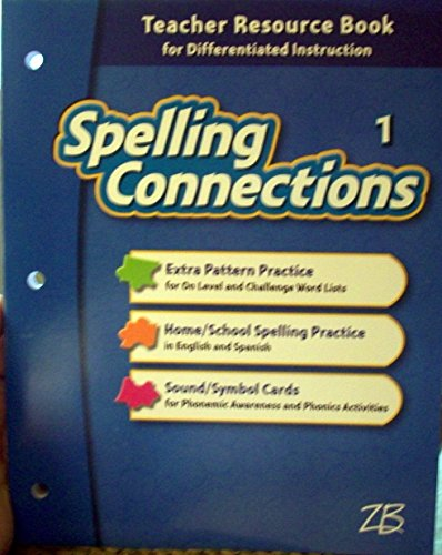 9780736769273: Spelling Connections 1 Teacher Resource Book for Differentiated Instruction