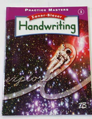 9780736772181: Practice Masters, Grade 5; Zaner-Bloser Handwriting