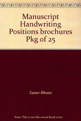 9780736772341: Manuscript Handwriting Positions brochures Pkg of 25