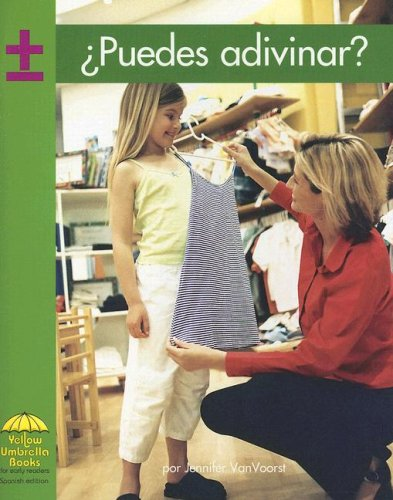 Puedes adivinar? (Yellow Umbrella Spanish Early Level) (Spanish Edition) (9780736829670) by Susan Ring