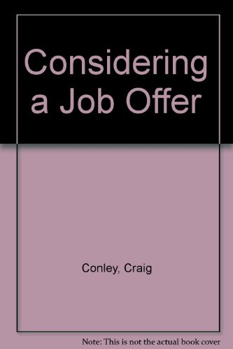 9780736885218: Considering a Job Offer (Looking at Work)