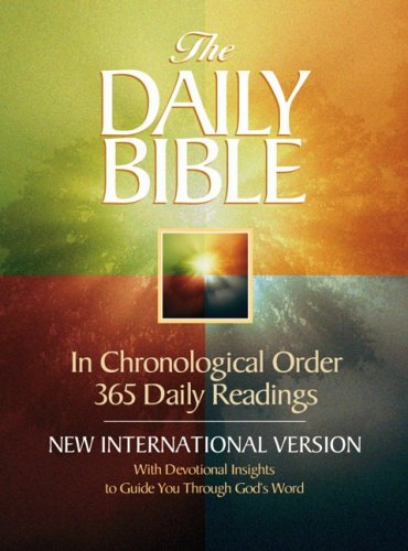 9780736917339: The Daily Bible: New International Version, Milano Softone, In Chronological Order 365 Daily Readings