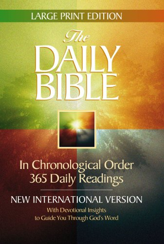 9780736920018: The Daily Bible: With Devotional Insights to Guide You Through God's Word, New International Version, Large Print Edition