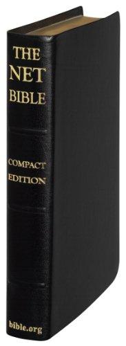 9780737501414: NET Bible Compact Edition (Premium Bonded Leather Black Saddle)
