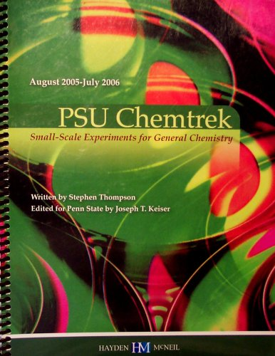 9780738014890: PSU Chemtrek: Small-Scale Experiments for General Chemistry (August 2005-July 2006)
