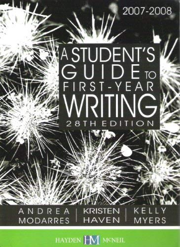 A Student's Guide to First-Year Writing 2007-2008: Andrea Modarres
