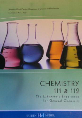 9780738025810: Chemistry 111 & 112: The Laboratory Experience for General Chemistry (Chemistry 111 & 112)