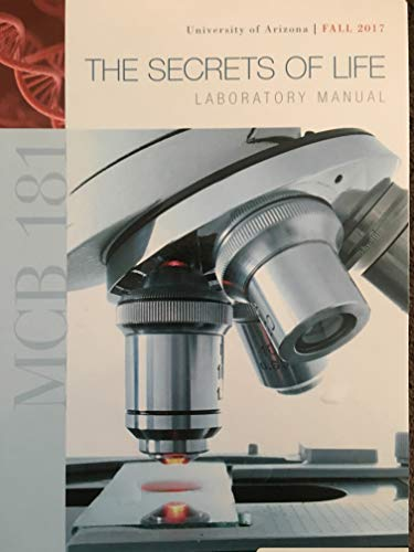 9780738028439: University of Arizona Biology Laboratory Manual 181L