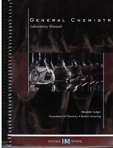 9780738030258: General Chemistry Laboratory Syllabus and Manual