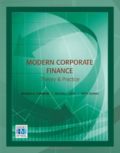 9780738037257: Modern Corporate Finance: Theory & Practice, 6th edition