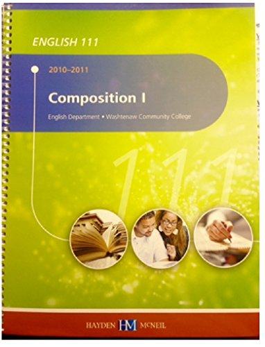 9780738037653: English 111, Composition I, Writing Center Manual, 2010-2011, Washtenaw Community College