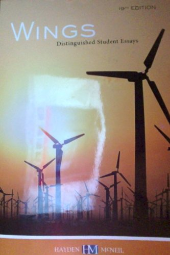 9780738038971: Wings Distinguished Student Essays