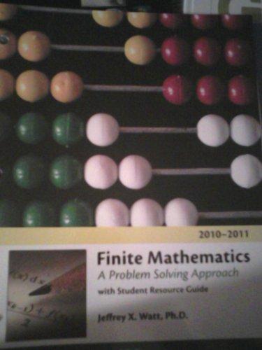 9780738039626: Finite Mathematics (A Problem Solving Approach)