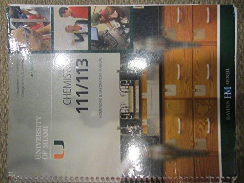 9780738040721: Chemistry 111/113 Homework & Laboratory Manual 4th Editon