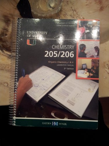 Chemistry 205/206 Organic Chemistry 1 & 2