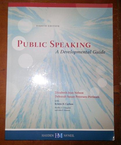 9780738042053: Public Speaking A Developmental Guide
