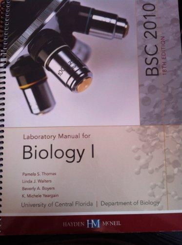 Biology 1 Lab Manual 18e UCF Custom: Pamela S. Thomas,